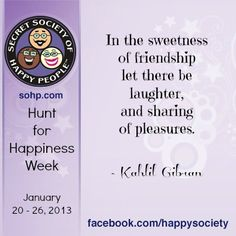 Hunt for Happiness Week www.sohp.com