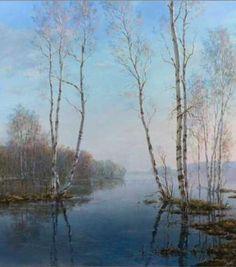 """Alexander Sarychev (Russe, b.1961) ~ """"Flood"""", 2004 (Détail) ~ huile sur Toile"""