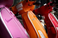 Vespa~RED,ORANGE AND PINK