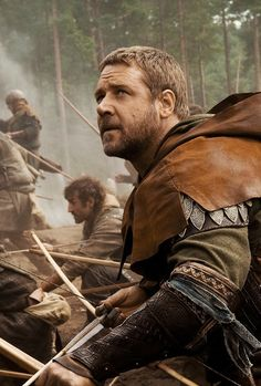 Russell Crowe as Robin Hood (this would work for forest/ranger/hunter type characters from several nations). Larp, Rangers Apprentice, Maid Marian, Movie Co, Le Talent, Medieval, Sherwood Forest, Russell Crowe, Ridley Scott