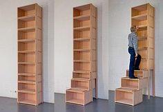 Treppenregal Das praktische Platzwunder: ein Treppenregal The post Treppenregal appeared first on Stauraum ideen. Staircase Shelves, Stairs, Diy Storage, Storage Spaces, Small Storage, Wood Furniture, Furniture Design, Furniture Ideas, Diy Rangement
