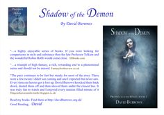Some really cool book reviews for Shadow of the Demon, Book 3 of the Prophecy of the Kings