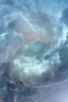 swirling clouds