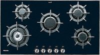 Sealed Burner Gas Cooktop with 5 Burners, Cast Iron Grates and a Black Glass with Stainless Steel Finish Kitchen Colour Combination, Laundry Appliances, House Appliances, Laundry In Bathroom, Bath Remodel, Black Glass, Kitchen And Bath, Cool Kitchens, Stainless Steel