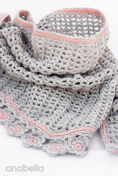 Helena crochet scarf pattern by Anabelia Tutorial╭⊰✿Teresa Restegui http://www.pinterest.com/teretegui/✿⊱╮