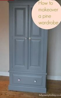 painted wardrobes contemporary painted furniture wardrobe paint ideas painting wardrobes ideas the best painted wardrobe ideas on decor painted end tables before and after Pine Wardrobe, Wooden Wardrobe, Built In Wardrobe, Wardrobe Ideas, Vintage Wardrobe, Wardrobe Design, Pine Bedroom Furniture, Shabby Chic Furniture, Painting Pine Furniture
