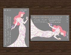 4x6 Disney Princesses Silhouette Bridal Shower by NhelyDesigns, $9.00