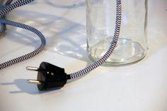 Make a zebra striped mason jar table lamp. Silvan Hacks by Anna Karnov