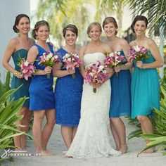 beach bridesmaids dresses multicolor 04-belize-wedding-multi-color-bridesmaid-dresses 04-belize-wedding-multi-color-bridesmaid-dresses