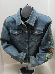 Coats, Jackets & Vests Romantic Vtg Lauren Ralph Lauren Denim Trucker Jean Jacket Pm Petite Medium Over-sized Women's Vintage Clothing