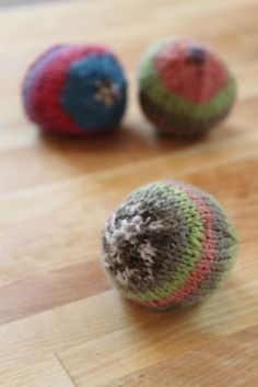 knitted bean bag balls