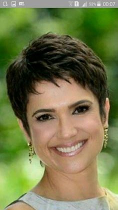Today we have the most stylish 86 Cute Short Pixie Haircuts. We claim that you have never seen such elegant and eye-catching short hairstyles before. Pixie haircut, of course, offers a lot of options for the hair of the ladies'… Continue Reading → Short Grey Hair, Very Short Hair, Short Hair With Layers, Short Hair Cuts For Women, Finger Wave Hair, Short Pixie Haircuts, Short Bangs, Haircut Short, Pixie Haircut Styles