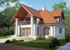 New Home Designs, Home Design Plans, Front Porch Steps, Architectural House Plans, Attic Design, Country Style House Plans, House Paint Exterior, Best House Plans, Roof Design