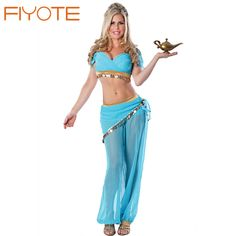 $14.57 Arabian Belly Dancer Costume Sexy Adult Cosplay Genie Halloween Costume  for women Seductive Beauty Slave Costumes #Halloween #Costume #Seductive #Beauty #Slave #Halloween