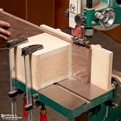 Learn from a 40-year a professional woodworker. Tom Caspar, former Editor of American Woodworker, will show you how to resaw boards on your bandsaw.