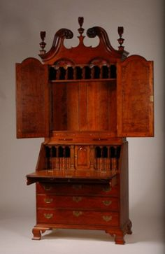 Reproduction Philadelphia Slant Front Desk / Secretary - Solid Cherry, Handmade  Even as a reproduction, this is gorgeous!!