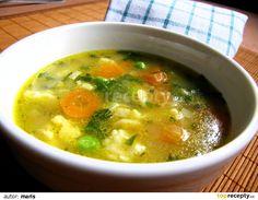 Rozpustíme tuk, přidáme dětskou krupičku a opražíme do světle nažloutlé ba. Soup Recipes, Snack Recipes, Cooking Recipes, Czech Recipes, Detox Soup, What To Cook, Food 52, Soups And Stews, No Cook Meals