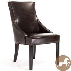 @Overstock - Add class to your home or office with this classic leather accent chair by Alfonso. It is sturdily constructed and upholstered with a neutral-colored brown bonded leather. It comes fully assembled and ready to use in the room of your choice.http://www.overstock.com/Home-Garden/Christopher-Knight-Home-Alfonso-Brown-Leather-Accent-Chair/7194591/product.html?CID=214117 $219.99
