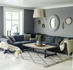 Living Room Colors, Home Living Room, Hall Painting, Wall Paint Colors, Sofa, My Dream Home, Luxury Homes, New Homes, Interior Design
