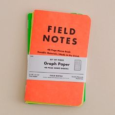 Field Notes notebooks in neon colours