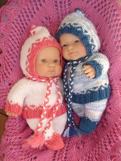"""Ravelry: Morgan - outfit for 8"""" (20cm) chubby baby doll pattern by Angela Parker"""