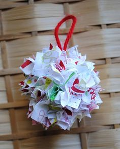 Fabric Scrap Ornament.  Great tutorial, with kids in mind.