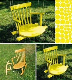 DIY Swing Chair~ Looks kind of ghetto, but it's still a cool idea!