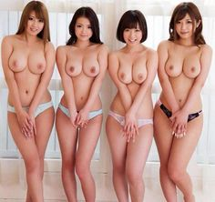 Japanese nude line up