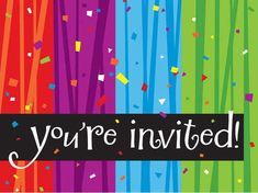 Creative Converting Milestone Celebrations Youre Invited Party Invitations 8Count ** Click image for more details. (This is an affiliate link)