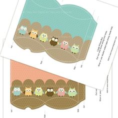 Owl Printable Pillow Boxes