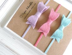 Felt Bow Headbands Tiny Bow Headbands $12.00