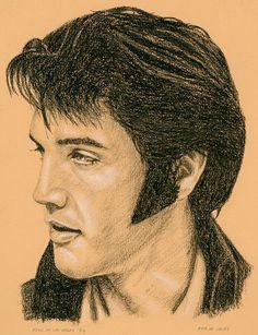 """""""Elvis Las Vegas 69"""" painting by Rob De Vries.  http://fineartamerica.com/featured/elvis-las-vegas-69-rob-de-vries.html#comment11587179"""