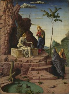 'Imitator Of Andrea Mantegna The Maries At The Sepulchre ' Oil Painting, 12 X 16 Inch / 30 X 41 Cm ,printed On Polyster Canvas ,this Cheap But Art Decorative Art Decorative Canvas Prints Is Perfectly Suitalbe For Bar Decoration And Home Decor And Gifts La Résurrection Du Christ, Jesus Christ, Noli Me Tangere, National Gallery, E 500, Holy Week, Old Paintings, Reptiles And Amphibians, Renaissance Art
