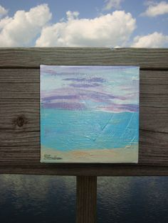 Summer Sunset original painting by MyHoneypickles on Etsy, $39.00