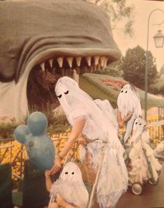 """""""Ghost Photographs"""" by Angela Deane. Painted over found photos shows ghosts having fun."""
