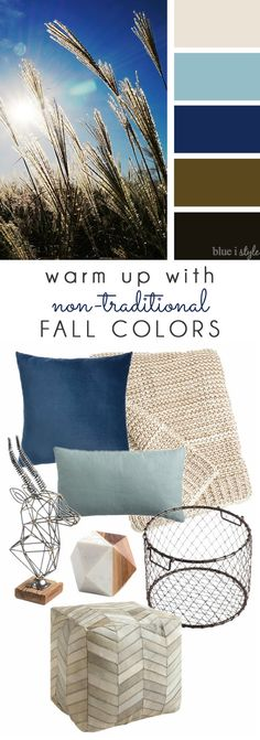 {decorating With Style} Warm Up Your Space With Unexpected Fall Colors. Living  Room ...