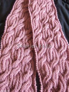 Beaumonde Cable Scarf, Scarf Pattern in Series of Cable Scarves Bonnet Crochet, Knit Or Crochet, Crochet Scarves, Crochet Shawl, Crochet Crafts, Knitting Scarves, Loom Knitting, Knitting Patterns Free, Knit Patterns
