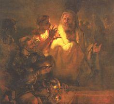 Petrus verleugnet Christus