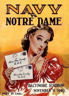 Navy vs Notre Dame football program (1940)