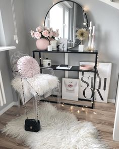 fashion, pink lips DIY Makeup Room Ideas, Organizer, Storage and Decorating Glam Bedroom, Girls Bedroom, Bedroom Ideas, Bedrooms, Fashion Bedroom, Fashion Decor, 1980s Bedroom, Earthy Bedroom, Bedroom Black