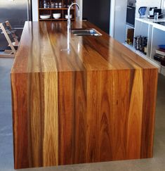 Spotted Gum Island Benchtop, timber benchtop, kitchen benchtop