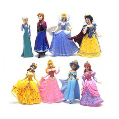 21.38$  Buy now - http://aliy93.shopchina.info/go.php?t=32693633788 - 8 pcs/set Kids my cute little Anna and Elsa and castle Set figures Toy cirthday poni for room party decoration gift doll Anime  #aliexpresschina
