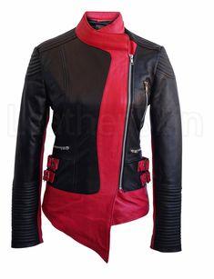 Leather Skin Women Black Pink Stripes Brando Genuine Leather Jacket - All About Leather Skin, Pink Leather, Real Leather, Plus Size Leather Jacket, Leather Jackets, Coats For Women, Jackets For Women, Black Pink, Color Black
