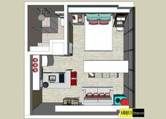 Projeto Arquitrecos - Soluções para apartamento de 25 m2