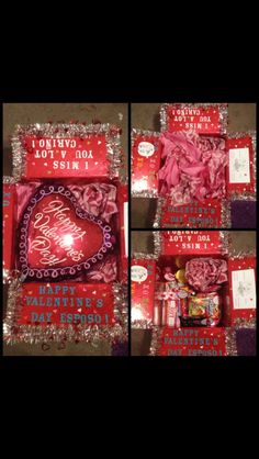 Valentines day care package (: