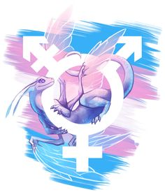 Saturday again means another pride dragon :D This time it's trans pride.Other completed pride dragons can be found here (it's a work in progress).This design is also available on TeePublic and Redbubble!
