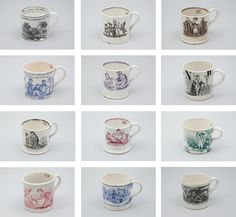 children's mugs. 1810-1820. Collection of Historic New England.