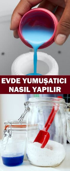 EVDE YUMUŞATICI NASIL YAPILIR Homemade Soap Bars, Household Cleaners, Home Made Soap, Natural Cleaning Products, Elsa, Healthy Lifestyle, Advice, Sweet Home, Diy Crafts