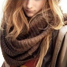 New Coffee and Black Color Warm Winter Scarves for Women