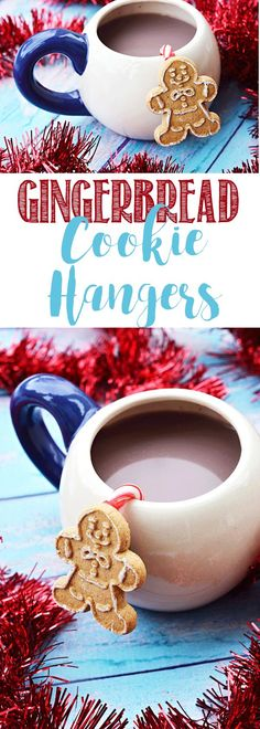 Gingerbread cookie hangers are an adorable addition to your cup of hot chocolate or coffee. A festive way to jazz up your hot drink during Christmas. Christmas Cookie Exchange, Christmas Desserts, All Things Christmas, Christmas Cookies, Christmas Holidays, Christmas Crafts, Christmas Ideas, Xmas Food, Family Christmas